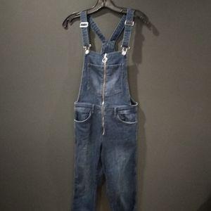 H&M denim overalls with zipper
